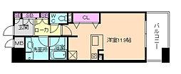 KAISEI江戸堀[9階]の間取り