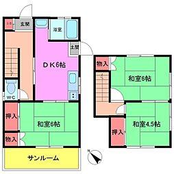 [一戸建] 千葉県市川市本北方3丁目 の賃貸【/】の間取り