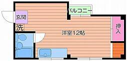第二双葉荘[2階]の間取り