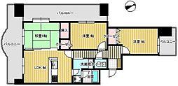ライオンズマンションサンフラワー[1201号室]の間取り