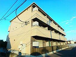 東京都日野市三沢1丁目の賃貸マンションの外観