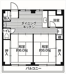 ビレッジハウス鎌ヶ谷[4階]の間取り