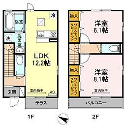 [テラスハウス] 神奈川県横浜市都筑区大棚町 の賃貸【/】の間取り