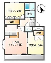 シャトー上郷[2階]の間取り