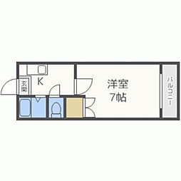 ラカーサ田島[305号室]の間取り