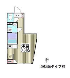 都営三田線 本蓮沼駅 徒歩13分の賃貸マンション 4階ワンルームの間取り