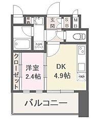 福岡県福岡市南区野間1丁目の賃貸マンションの間取り
