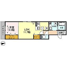 D-room ラ・ミューズ朝霞本町[1階]の間取り