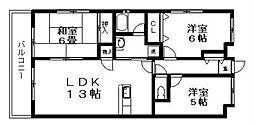 ハピネス飯田8号館[2階]の間取り