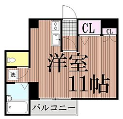東京都大田区矢口2丁目の賃貸マンションの間取り