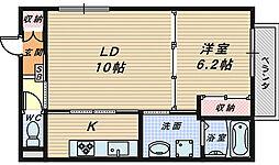 ミモザコート[2階]の間取り