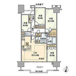 プラウド新浦安パームコートC棟[9階]の間取り
