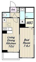 JR南武線 宿河原駅 徒歩10分の賃貸アパート 1階1LDKの間取り