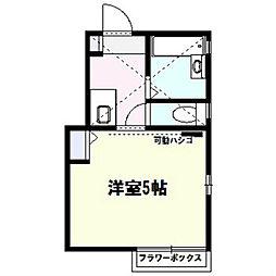 ヴューテラス戸塚[2階]の間取り