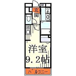埼玉県川口市朝日2丁目の賃貸マンションの間取り