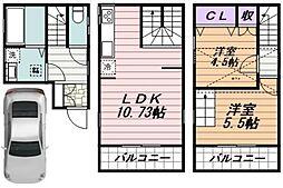都営三田線 春日駅 徒歩5分の賃貸一戸建て 2階2LDKの間取り
