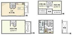 東京メトロ東西線 神楽坂駅 徒歩3分の賃貸一戸建て 1階3LDKの間取り