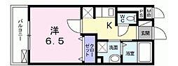 Surya 中野坂上 2階1Kの間取り