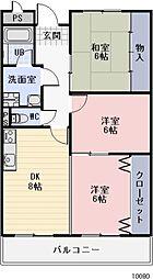 愛知県刈谷市一色町1丁目の賃貸マンションの間取り