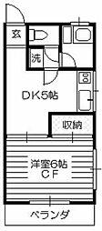 秋津サンハイツ[201号室]の間取り