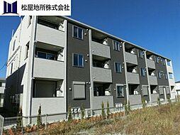 愛知県豊橋市神野新田町字ハノ割の賃貸アパートの外観