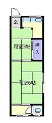 清和荘[1階]の間取り