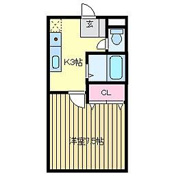 パイン3[1階]の間取り