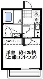 神奈川県横浜市南区若宮町1丁目の賃貸アパートの間取り