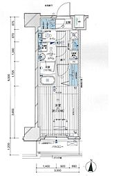 メインステージ亀戸VI 3階1Kの間取り