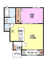 KACC213緑町II[102号室]の間取り