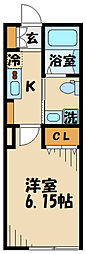 (仮)清水が丘1丁目共同住宅 3階1Kの間取り