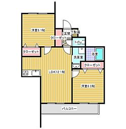 神奈川県川崎市麻生区細山7丁目の賃貸マンションの間取り