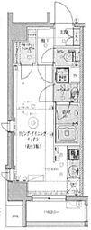LEXE東京North II 2階ワンルームの間取り