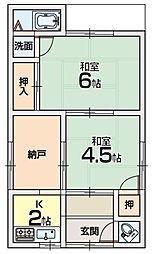 [一戸建] 大阪府交野市倉治4丁目 の賃貸【/】の間取り