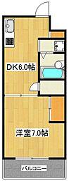 東京都世田谷区玉川4丁目の賃貸マンションの間取り