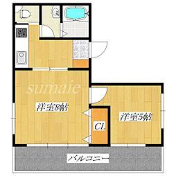 東京マンション[6階]の間取り