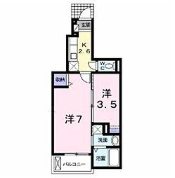 ベル テール B[1階]の間取り
