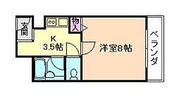 コンフォート姫里[5階]の間取り