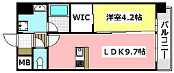 JR東海道・山陽本線 千里丘駅 徒歩5分の賃貸マンション 1階1LDKの間取り