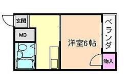 藤ハイツ[4階]の間取り
