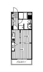 プリフェランス[3階]の間取り