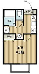 キャメル武蔵藤沢2 1階1Kの間取り