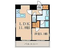 GRAN PASEO目黒 10階1LDKの間取り