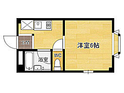 ビバリーハウス南福岡III[4階]の間取り