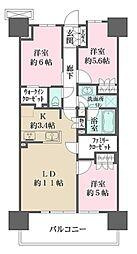 SHINTO CITY 2階3LDKの間取り