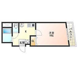 福島プライム[3階]の間取り