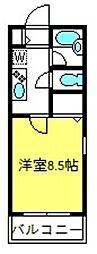 サンモール大和田B[102号室]の間取り