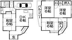 [一戸建] 大阪府交野市私部1丁目 の賃貸【/】の間取り