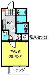 神奈川県横浜市港南区上大岡西1丁目の賃貸マンションの間取り