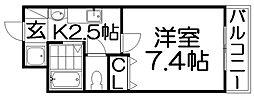 M'PLAZA香里壱番館[2階]の間取り
